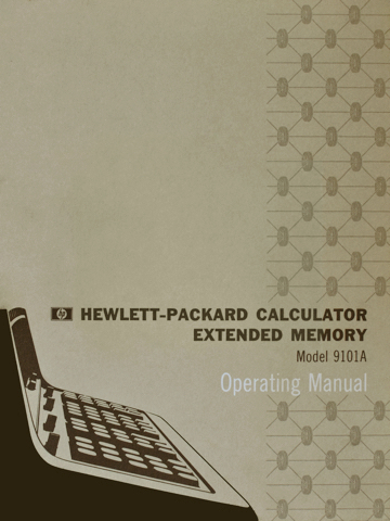 HP 9101A Operating Manual