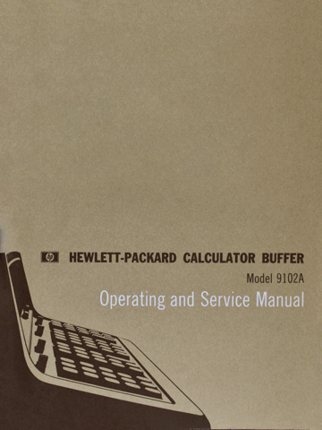 HP 9102A Operating and Service Manual