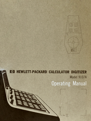 HP 9107A Operating Manual