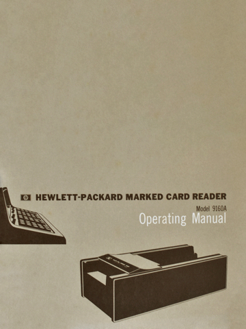 HP 9160A Operating Manual