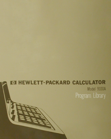 HP 9100A Program Library